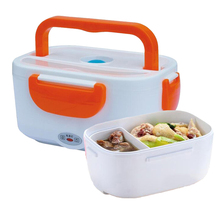 Portable Heated Lunch Box for kids 220V Electric Heat Double-layer heating Hot Rice milk Cooker Truck Oven Cooker Food Warmer(China)