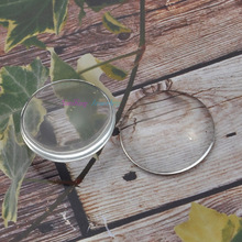 10pcs 30mm (Thick 7mm) Clear Round domed magnifying glass cabs, glass round, round glass inserts pendant Tray
