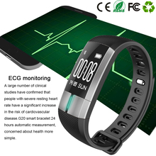 Buy Stock G20 ECG Monitoring Smart Bracelet Fitness Activity Tracker Blood Pressure Wristband Pulsometro PK id107 Xiomi mi band 2 for $35.99 in AliExpress store
