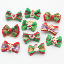 100 Pcs/Lot Armi store Handmade Christmas Dogs Bow Festival Grooming Bows For Dogs 6011035 Pet Jewelry Accessories Wholesale