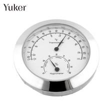 Yuker New Silver Humidity Moisture Thermometer Hygrometer Case For Guitar Violin Bass Mini Useful Portable