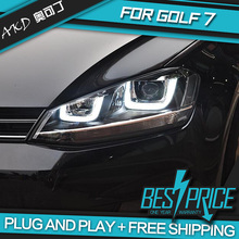 AKD Car Styling Head Lamp for VW GOLF 7 GOLF7 Headlights LED Headlight DRL ANGEL EYES Bi-Xenon Lens HID Accessories