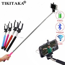 Hot! 22-100 CM Extendable Handheld Monopod Audio Cable Wired Palo Selfie Stick For Iphone 6 plus 5s 4s Samsung Android Self-Pole