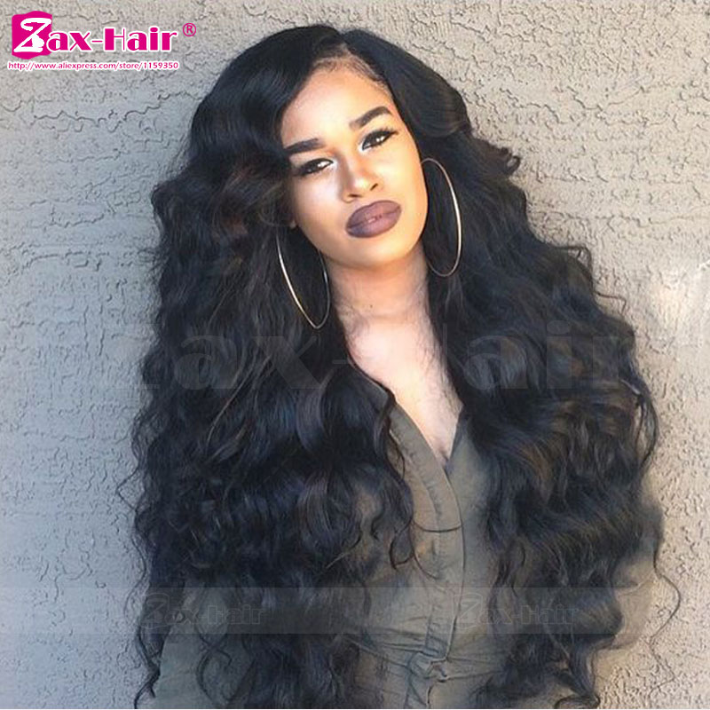Virgin Human Hair Lace Front Wigs For Black Women 7A Wavy Human Hair Full Lace Wigs Natural Hair Line Unprocess Full Lace Wigs<br><br>Aliexpress