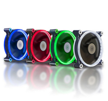 Computer 120mm LED Fan Water Cooler 120 mm Fan Cool Glare Red Blue Green White Cooler Fan(China)