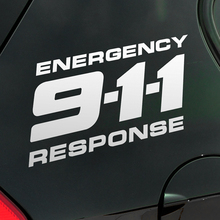 25cm 911 9-1-1 Energency Response Transformers Car Styling Reflective Vinyl Sticker Decal Anywhere for Chevrolet Cruze Malibu