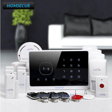 HOMSECUR Wireless GSM RFID SMS Autodial Burglar Alarm System With Panic Button(China)