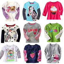 Free shipping New 2016 Kids t shirts girls T-shirts long Sleeve kids Tops cotton children's Clothes Children's long-sleeved
