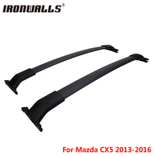 Ironwalls Car Roof Rack Cross Bars Cargo Luggage Carrier 132LBS For Mazda CX5 2013 2014 2015 2016 with factory roof side rails(China)