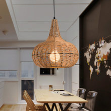 Modern minimalist personality creative arts project light rattan cafe bar entrance hallway small chandelier