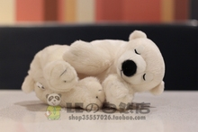 Kawaii Polar Bear Doll Plush Toy Sleeping Position Children'S Toys Pillow Festival Gift(China)