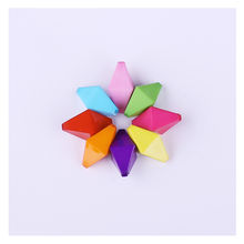 Multi Color Acrylic Cube Rhombus Hole Bead 100pcs/Lot Wholesale African Water Transparent Beads For Kids DIY Jewelry Making