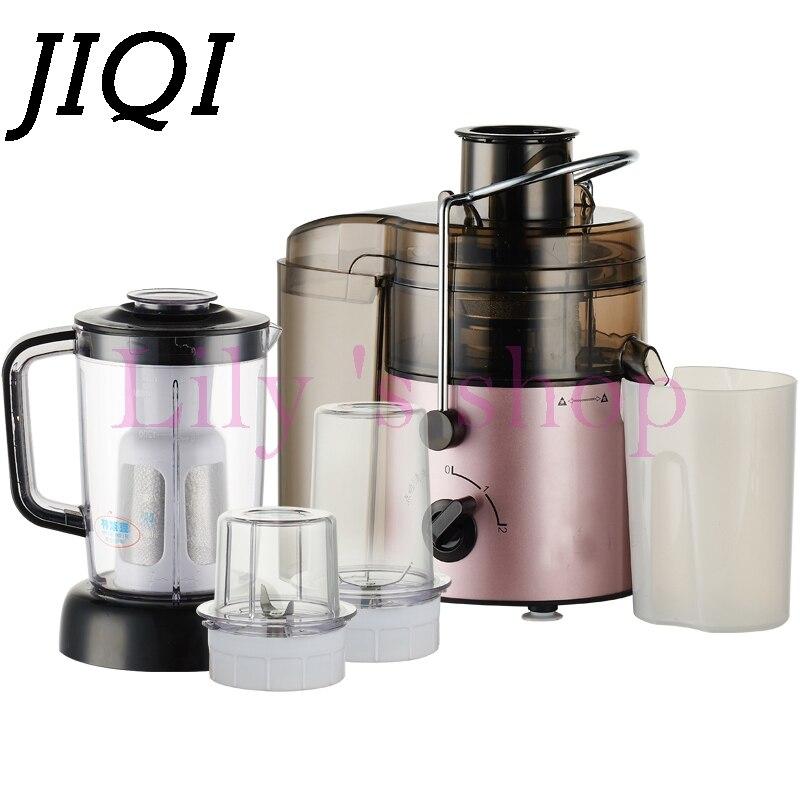 JIQI Multifunctional juicer household automatic electric Dry Grinding Soya-bean Milk Meat Grinding machine 220V Blender  <br>