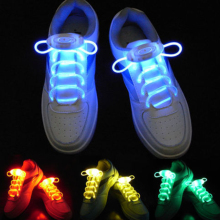 Free shipping 2015 brand new LED Sport Shoe Laces Flash Light Up Glow Stick Strap Shoelaces Disco Party Club 715