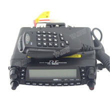 Fast Shipping VHF UHF HF Remote Control Panel Cross Band Mobile Car Walkie Talkie+Programming Cable and Software