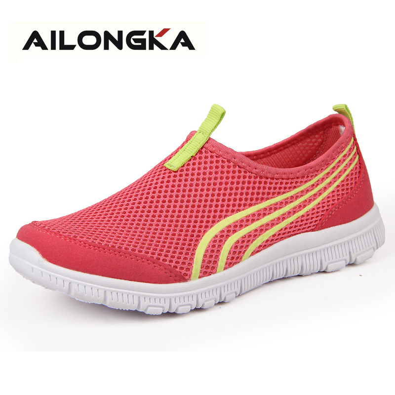 Fashion Summer Women Casual Shoes Air Mesh female Zapatillas Deportivas Mujer tenis shoes Woman Flats Spring Autumn<br><br>Aliexpress