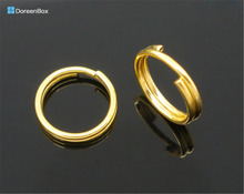 Doreen Box Lovely 400 Gold color Double Loop Split Open Jump Rings 8mm (B05177)(China)