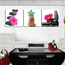 Stone Flowers Modern Home Wall Decor Canvas Art Picture Print Painting On Canvas Artworks No Frame