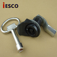 Large triangle key electrical appliance box lock power distribution box lock switch cabinet door lock black tongue lock industri(China)