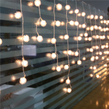1.5*0.5 Led String Fairy Lights Curtain Icicle Christmas Lights Edelweiss Luminaria navidad Wedding Xmas Party Home Decoration