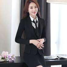 Buy 2017 Spring Autumn Elegant Ladies Dress Suits Women Business Suits Formal Office Suits Work Wear Jacket Sets Plus Size Dress for $52.80 in AliExpress store