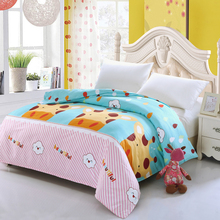 New fashion cartoon cotton blue yellow red Duvet Cover quilt Comforter blanket case twin full queen super king size kids student(China)