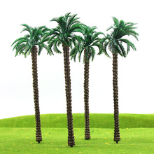 10pcs Layout Model Train Palm Trees Scale O 18cm Plastic model trees TDT18 railway modeling model building kits