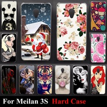 Hard Plastic Case For Meizu M3 M3S Mini Blue Charm 3 3S Meilan 3 3S Bag Back Color Paint Mobile Phone Cover Bag Housing Skin(China)