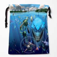 TF&12 New Finding Nemo Underwater World &8 Custom Printed receive bag Bag Compression Type drawstring bags size 18X22cm &81#12