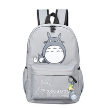 Lovely Totoro Printing Canvas Backpack Korean Styles of School Bags Female Canvas Totoro Backpack Travel Bags 449