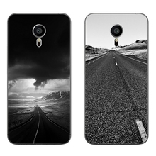 For Meizu MX4 MX5 MX6 Pro 5 6 Phone Case M1 M2 M3 Note MEILAN E Mini Shell Transparent Cover Soft Silicon Ash Road Pattern Skin
