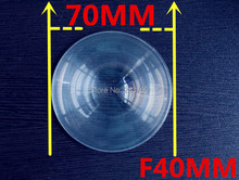 Diameter 70 mm Fresnel Lens  Focal length 40mm High light condenser Fresnel Lens used Solar concentrator Plane enlarge