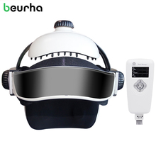Beurha Electrical Head Brain Massager Infrared Heated Digital Therapy Machine Massager Vibration Magnetic Music Household Health(China)