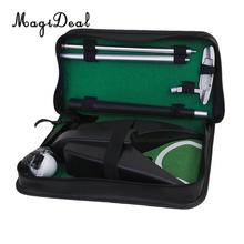 MagiDeal 1Set Professional Portable Golf Putting Training Executive Practice Putter Clubs Mat Tool Golfer Gift Funny Indoor Game(China)