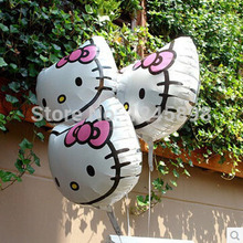 hot 10pc/lot 53*51cm newest design cartoon hello kitty helium balloons mylar ballon for babys party decoration balloon
