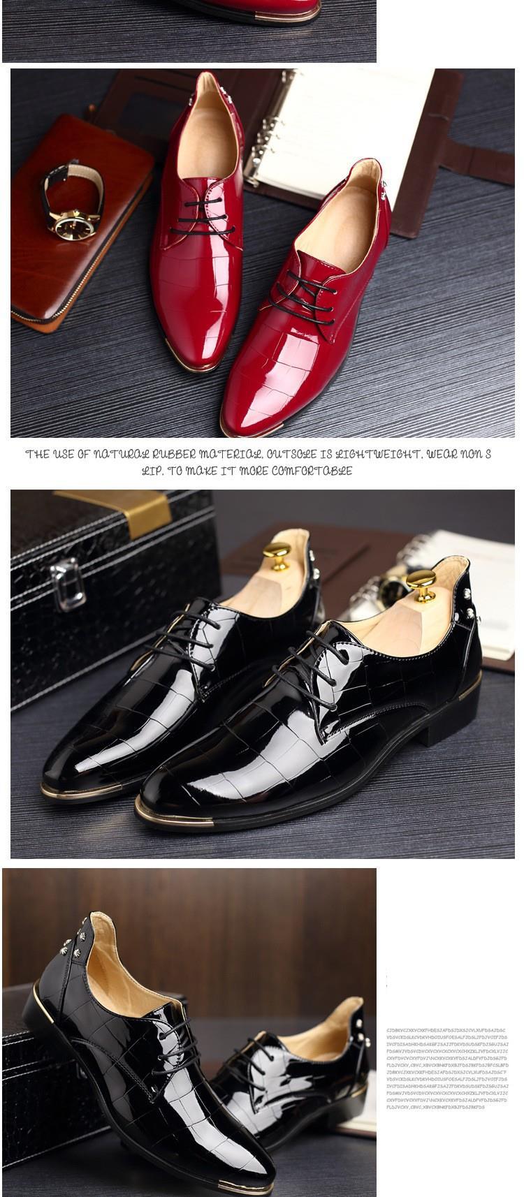 Men shoes 16 new fashion PU leather casual men shoes 7