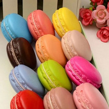 New 1PC Color Random Kawaii Soft Dessert Macaron Cute Charms Relieve Stress Toy