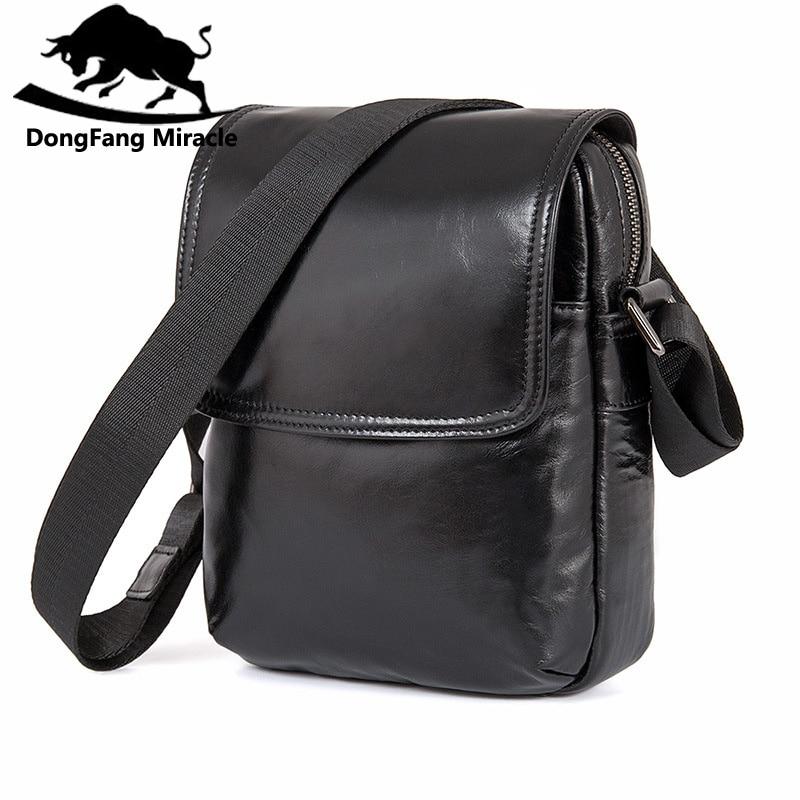 Men Business Cowhide Genuine Leather Messenger Shoulder Bag Casual Crossbody Bag Man Black Handamde Flap Pocket Sling Bag<br>