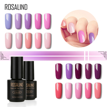 Rosalind Black bottle Noble Purple Color Series 7ml Soak-off UV LED lamp Nail Gel Polish nail art Semi Permanent gel varnish(China)