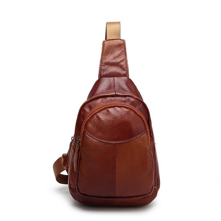 Chest package retro mens bags Crossbody Bags Ipad bags Leather Men Single shoulder bag<br>