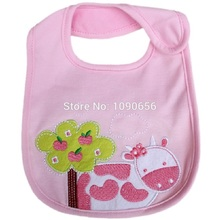 Baby Girls Pink Bibs Feeding Towel NB Burp Cloths Bebe Babador Waterproof 3-layers bandana bibs Apron baby towel(China)