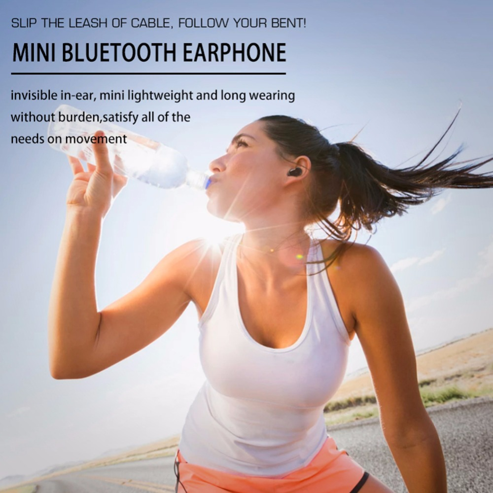 Waterproof Mini Invisible Bluetooth Earphone Micro Wireless Sport headset 4.2 Earbud headset Swimming Micro Headphones Bluetooth