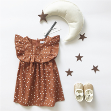 ins hot 2017 summer baby girl clothes girls star pattern bobo choses kids clothes girls clothing kids dresses girls dresses vest