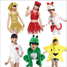 Free Size cartoon animal rabbit/horse/frog/fish cosplay clothes for children from 110 - 140cm christmas stage show play costumes
