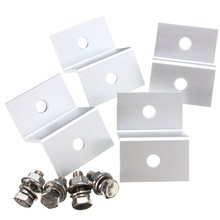 4Pcs Solar Panel Z-Bracket Mounting 4 Kits Aluminum Stainless Bolt For RV Boat 5.5x3.8x2cm(China)