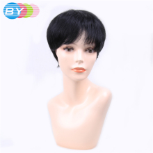 2018 Real Time-limited By Hair Brazilian Straight 1b Black Color Short Human Bob Wigs Non-remy One Piece free Shipping(China)