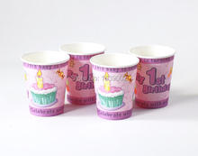20 PCS Free Shipping Birthday Party Disposable Cup Wedding Decoration Baby Shower (STFS-010)