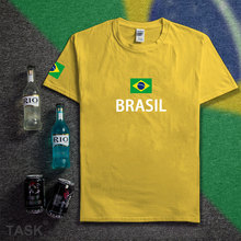 Federative Republic of Brazil t shirt man 2017 t-shirts cotton nation team country fans streetwear fitness brasil BRA Brazilian(China)