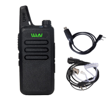 WLN KD-C1 UHF 400-470 MHz MINI Handheld Two-Way Ham Radio Communicator HF Transceiver Portable Walkie Talkie With headset Cable(China)