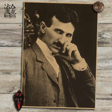 Scientist Nikola Tesla Kraft Paper Poster Wall Home Decor Stickers Famous People Painting World Celebrity Art Mural Wallpaper